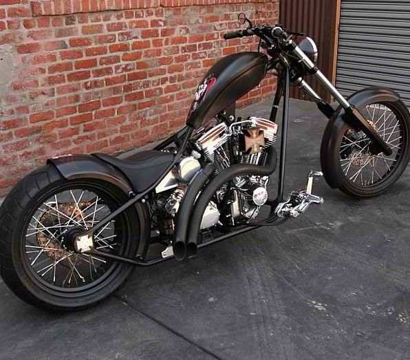 Awesome Old And New School Style Chopper From WWC