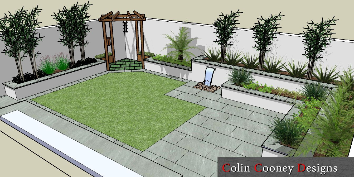 Small rectangular garden google search gardens for Modern low maintenance garden ideas