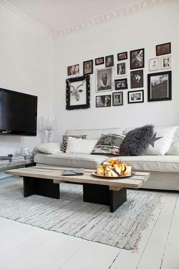 skandinavisch einrichten wohnzimmer holztisch holzboden - wohnzimmer skandinavisch einrichten