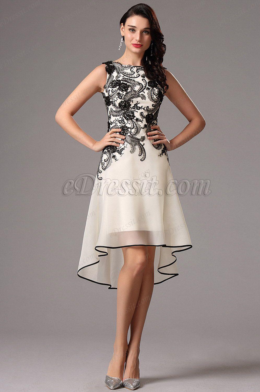 0949b2293515b Está en busca de Vestido Cóctel Corto de Fiesta Sin Tirante en Negro  Encaje(04160800) en precios más bajos