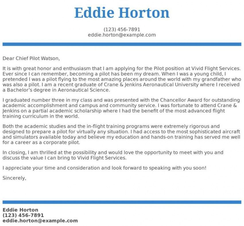 Explore our image of airline pilot cover letter template