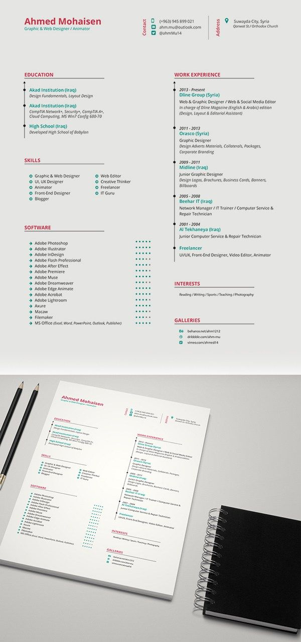 Free Elegant Cv Resume Template Free Psd Files Pinterest