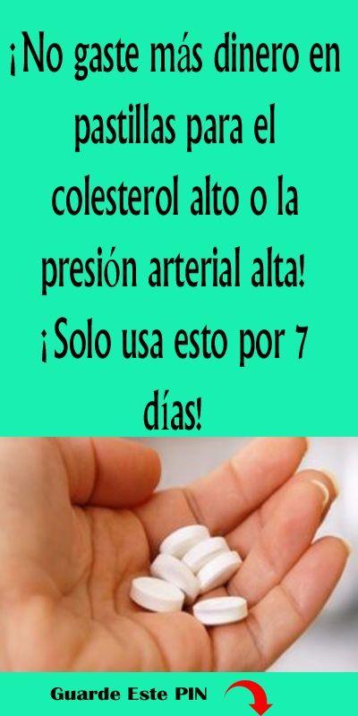 Recetas para colesterol alto y presión arterial alta