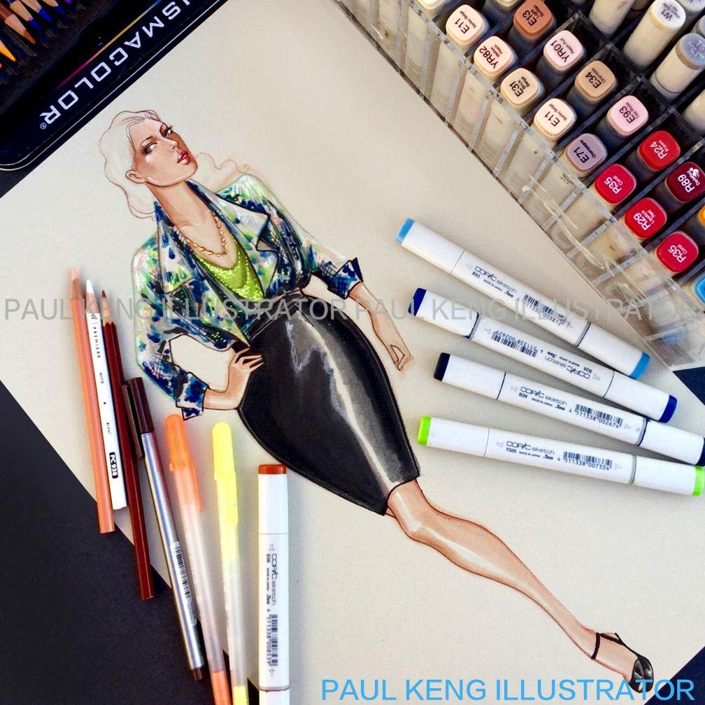 Illustration by Paul Keng | Plus Size Woman