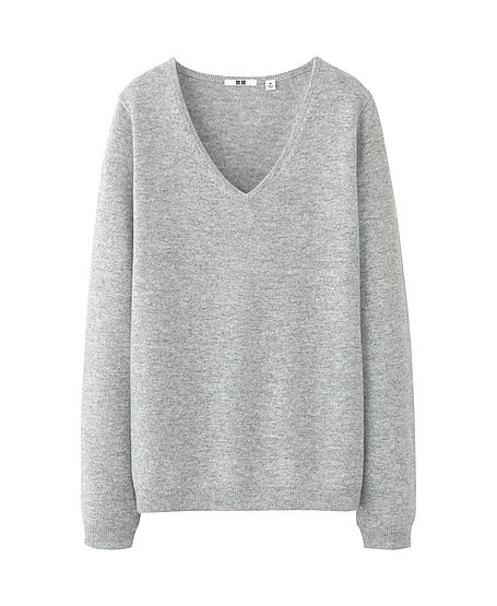 Cashmere V Neck Sweater by Uniqlo | Scandinavian Sweetness ...