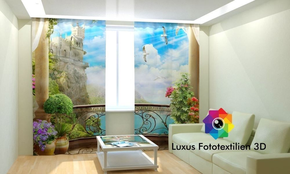 Fotogardinen 3D  - gardinen und vorhänge für wohnzimmer
