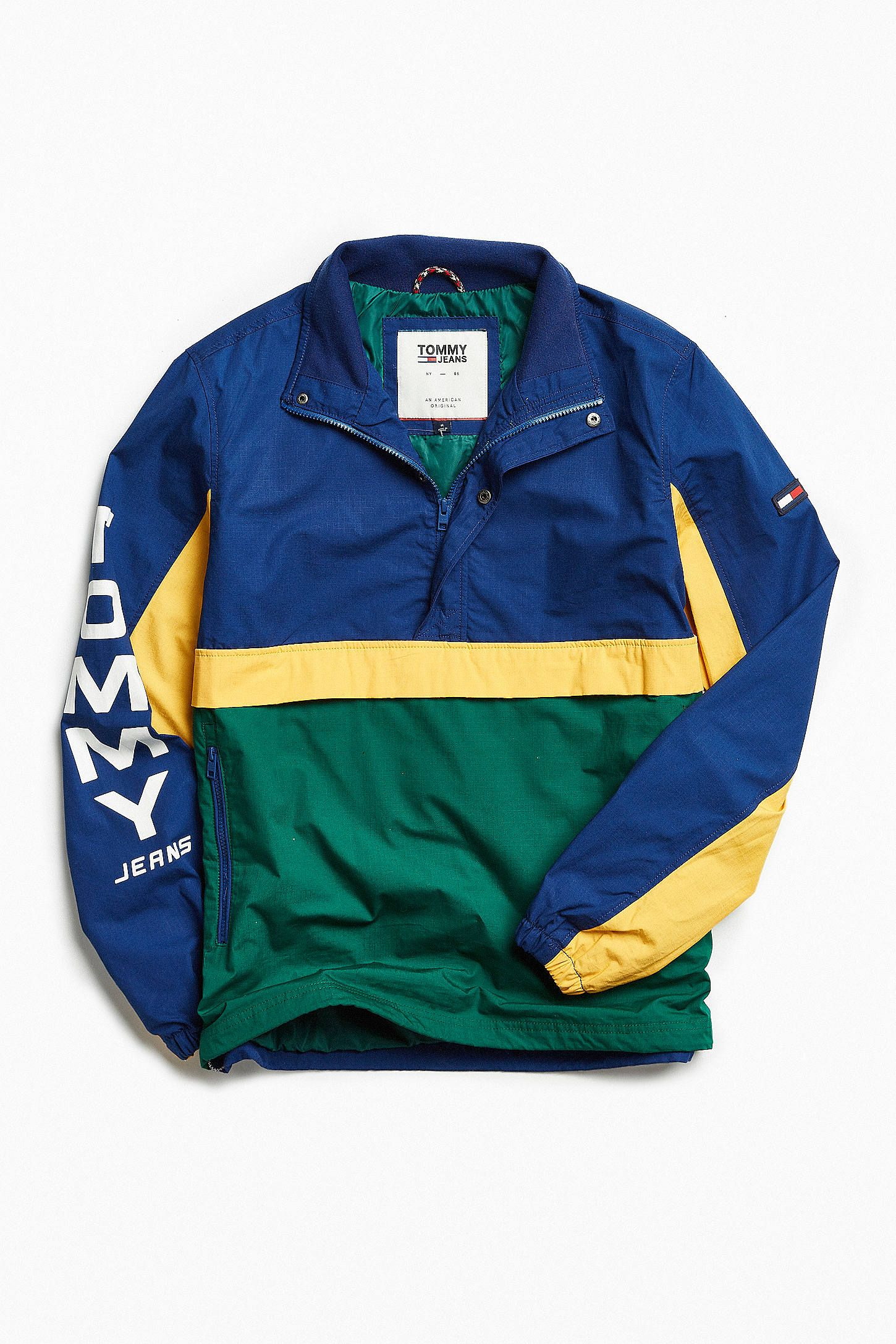 025b3ebf Shop Tommy Hilfiger Retro Block Windbreaker Jacket at Urban Outfitters  today. We carry all the latest styles, colors and brands for you to choose  from right ...