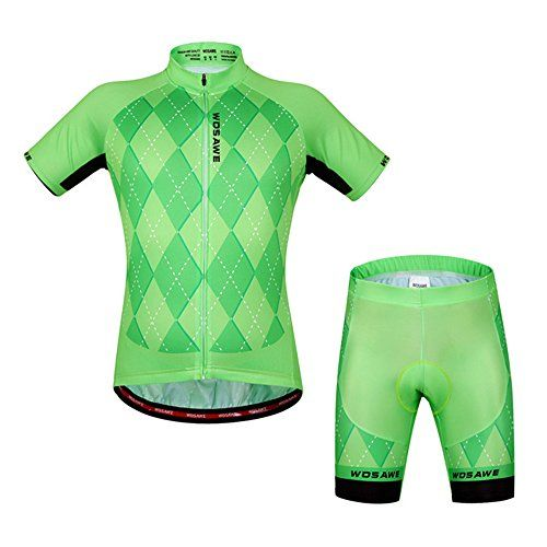 Summer Cycling Jersey Shorts Set 3D Gel Pad Biking Pants with Comfortable Bicycle  Shirts Breathable Quick Dry ONEW258 2XL -- Want to know more 61bc94b0c