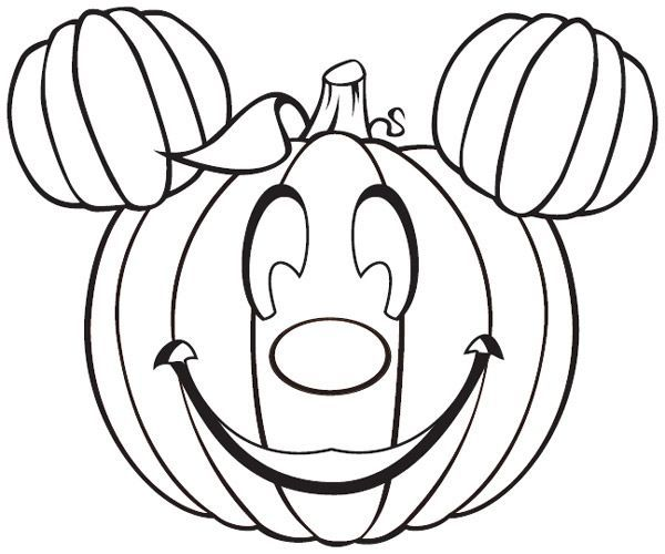 Mickey Jack O Lantern Free Halloween Coloring Pages Disney