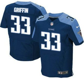 tennessee titans jersey 33 michael griffin nike navy blue elite jerseys