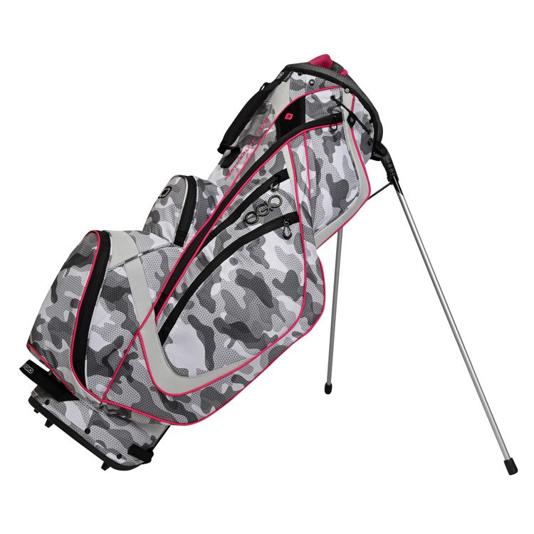 Ogio Featherlite Luxe Womens Golf Bag Camo Pink Cool