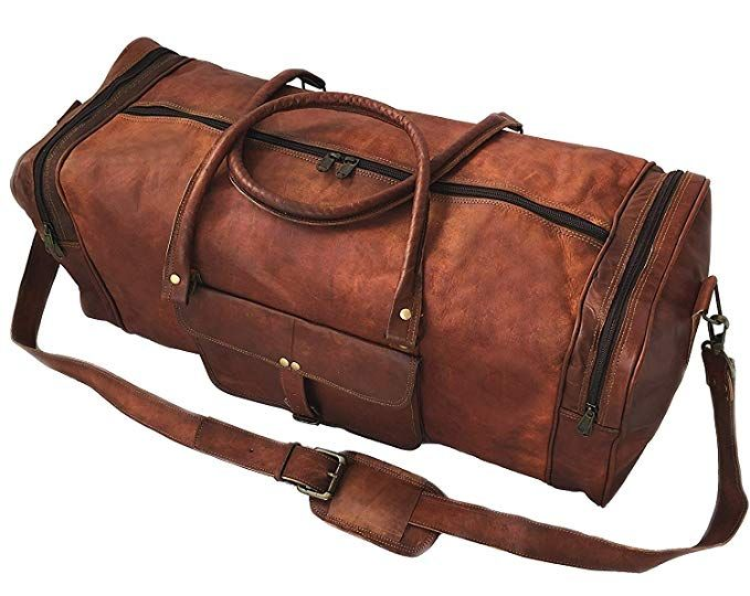 24 Inch Square Duffel Travel Gym Sports Overnight Weekend Leather Bag Review 1fd1804303b7b