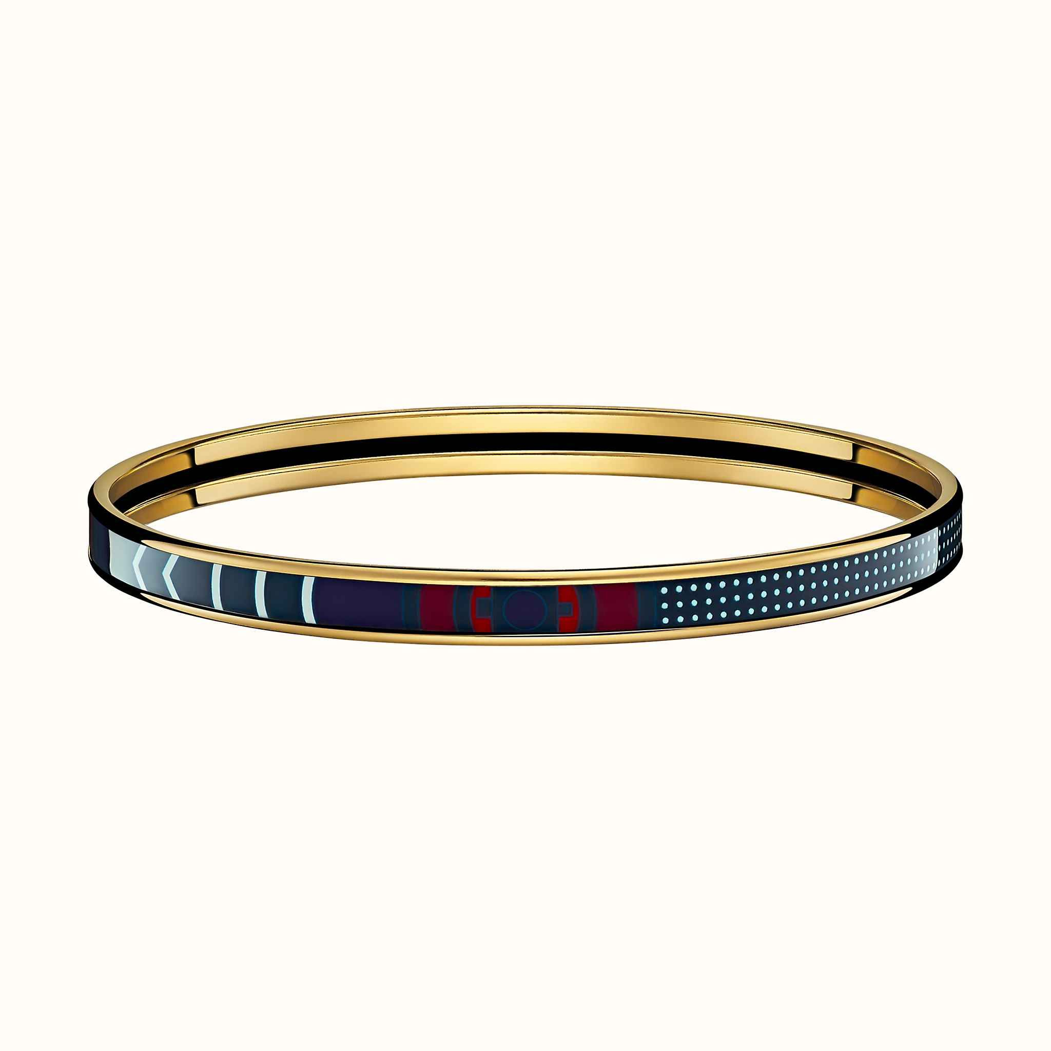 d440d61fec6 Washington's Carriage Detail bangle | Hermès - clair de lune Product  reference: H241991F 9570