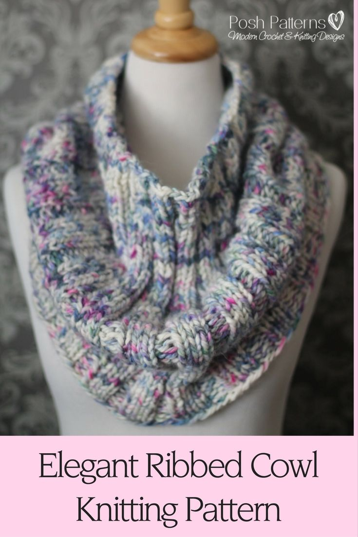 Knitting Pattern - A luxurious and cozy knit cowl pattern that ...