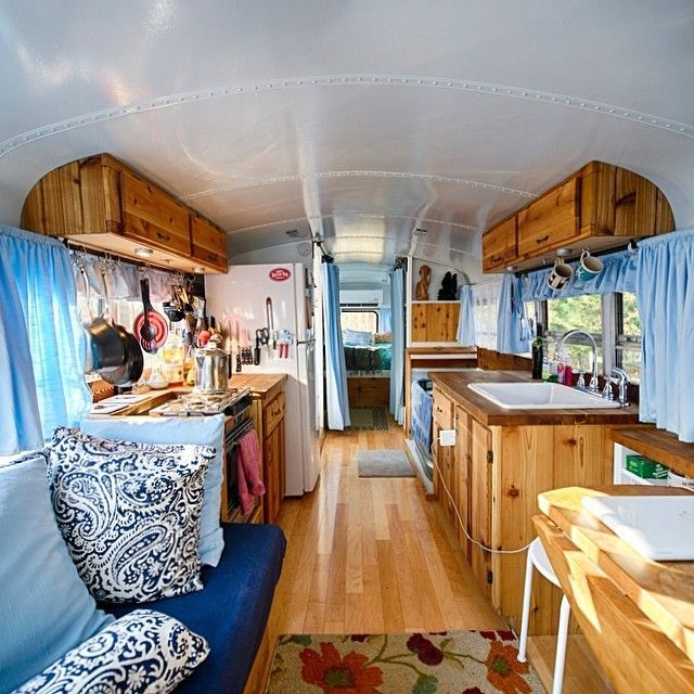 Converted Into Houses: 67 Best Skoolie School Bus RV Conversion Homes Images On