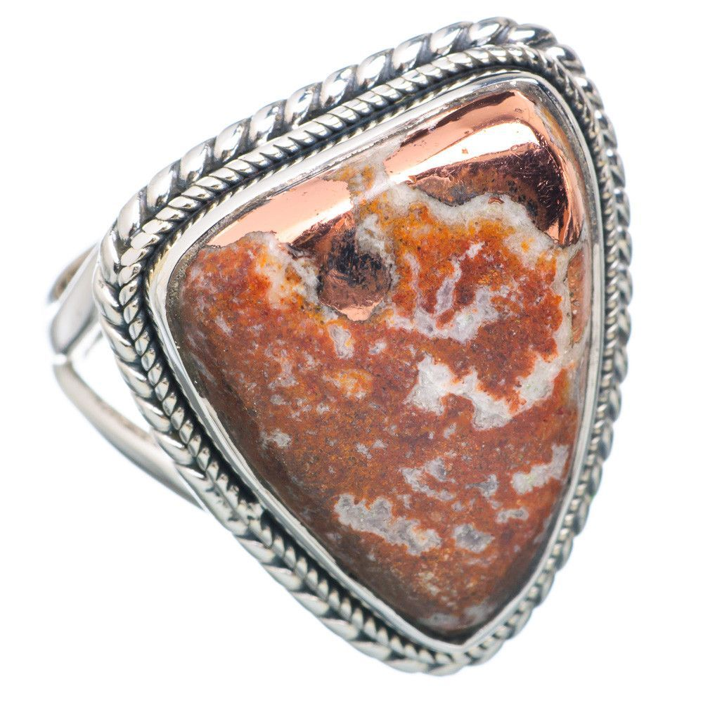 Pyrite Agate 925 Sterling Silver Ring Size 8.25 RING716677