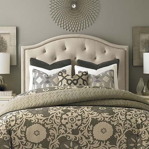 Custom Uph Beds Vienna Arched Headboard With Images Bassett