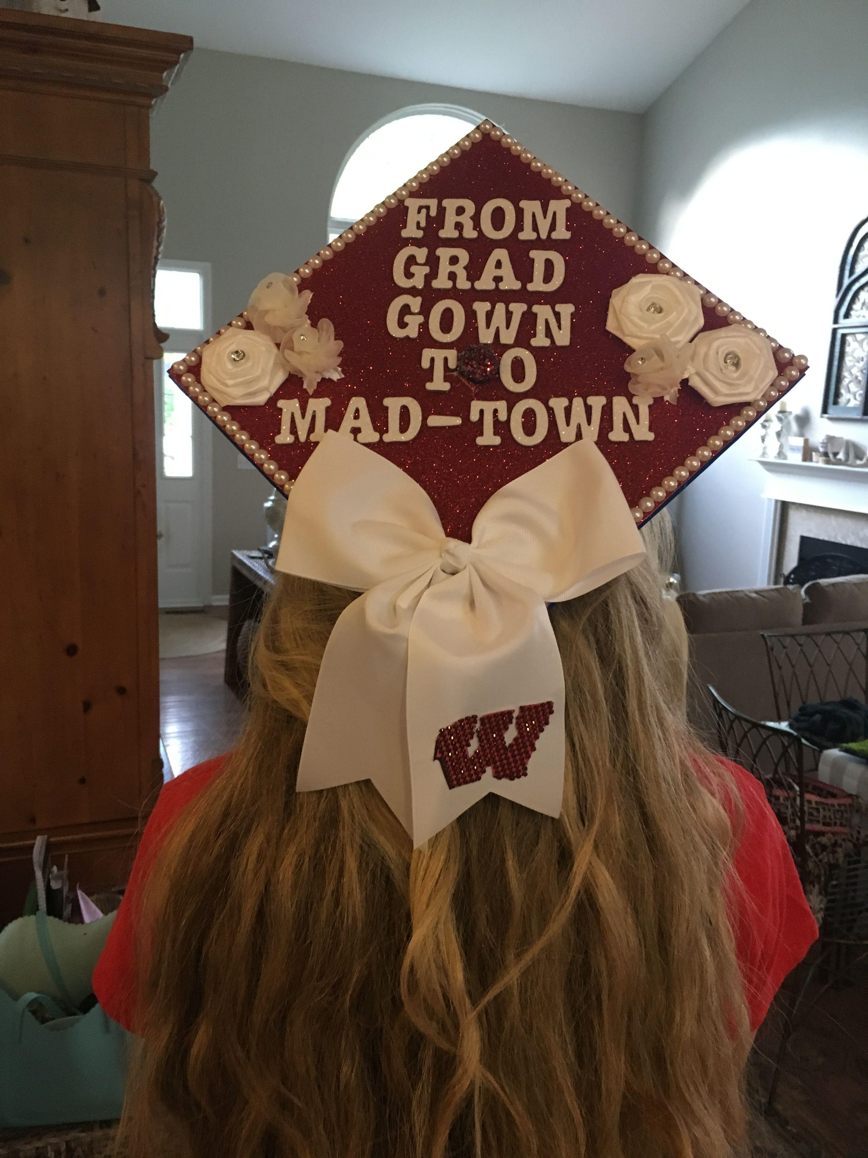 University of Wisconsin Madison Badgers graduation cap for girls ...