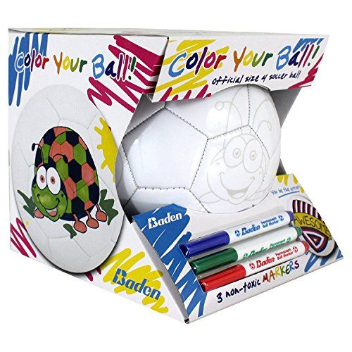 b88c6cfc626d0 Baden Color Your Own Soccer Ball White Size 4   More info could be found at