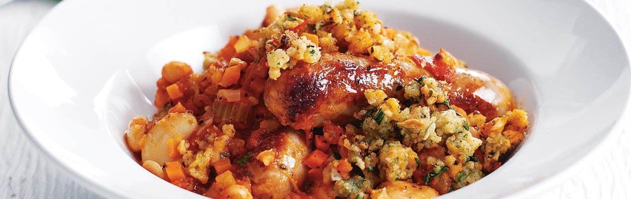Quick Sausage Cassoulet