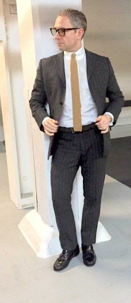 Damn damn damn. Martin Freeman oozes cool in a DNA suit.