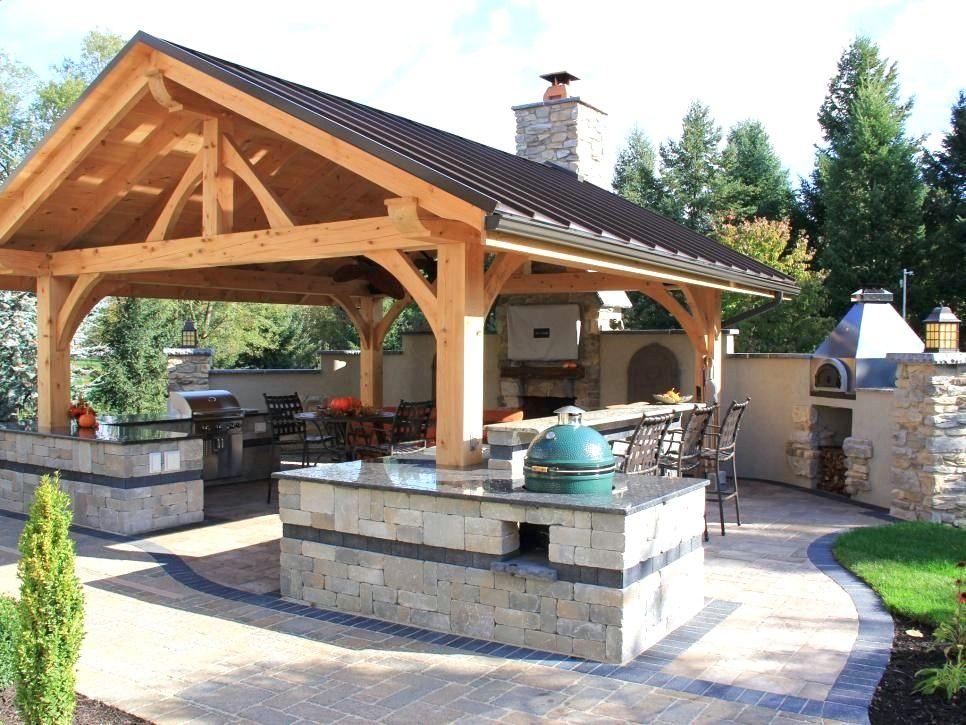 Outdoor Cooking Areas Designs Backyard Pavilion Outdoor Kitchen Design Outdoor Kitchen Decor