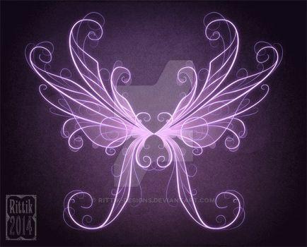 Glowing Wings 1 By Rittik Designs