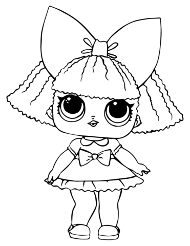 Lol Doll Glitter Queen Coloring Page In 2020 Puppy Coloring Pages Baby Coloring Pages Lol Dolls
