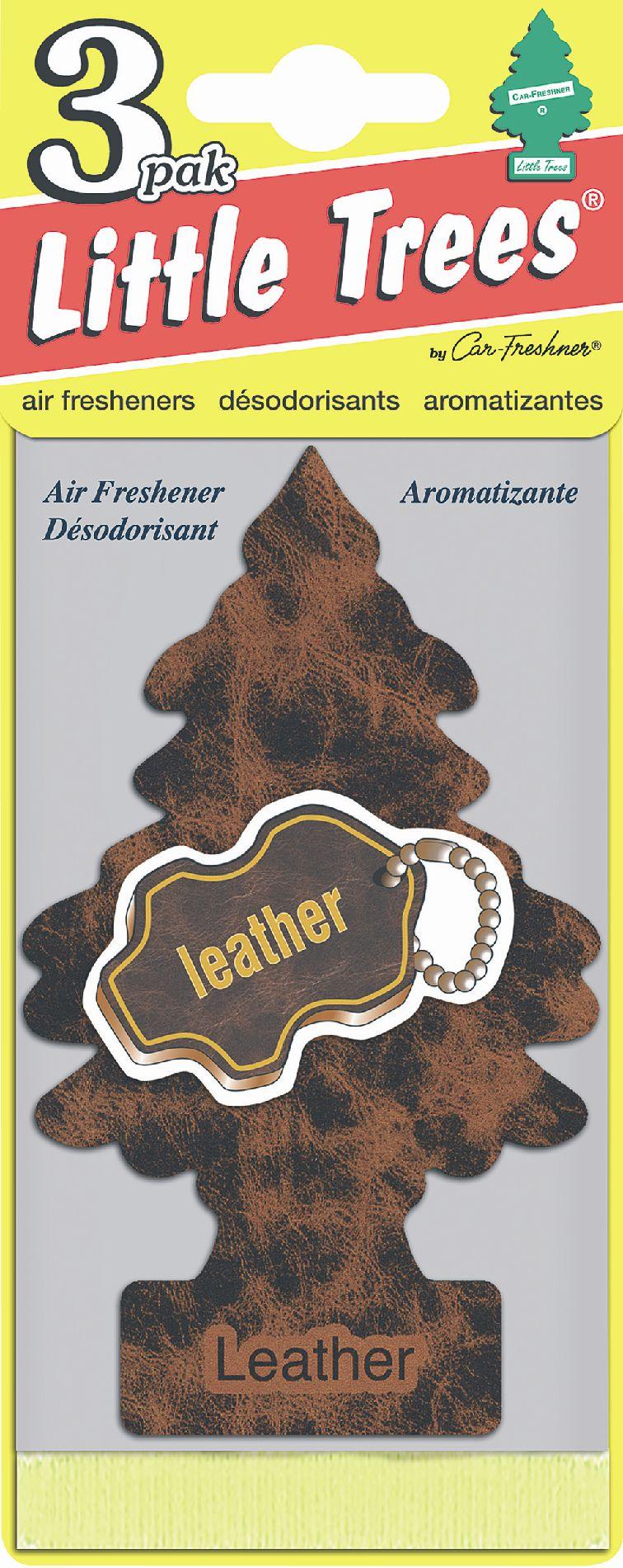 Car freshner little trees air freshener 3 pack leather