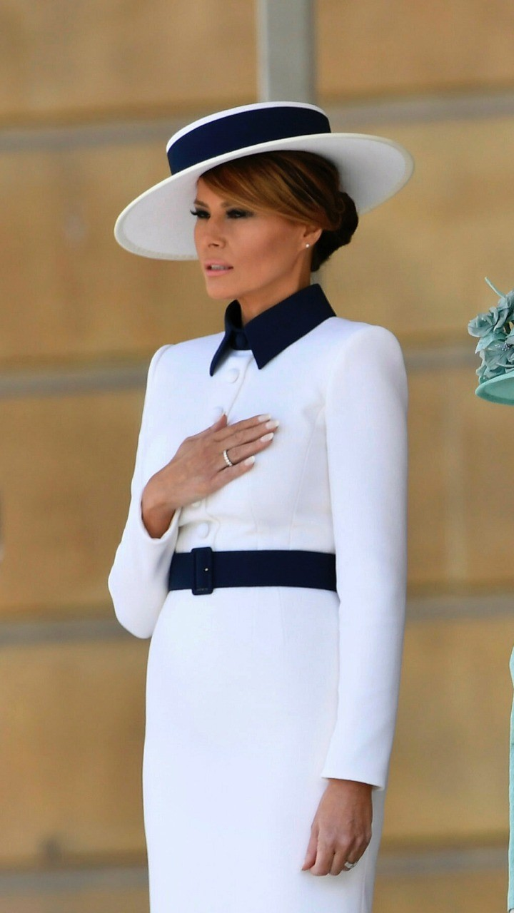 Fashion Notes Melania Trump Is The Crown Jewel In Dior Haute Couture For U K State Dinner Love Love Love This Trump Fashion Milania Trump Style Fashion