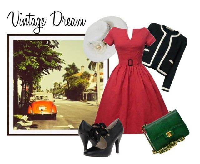 """""""Vintage Dream"""" by elisabetta-negro ❤ liked on Polyvore featuring Pottery Barn, Chanel and vintage"""