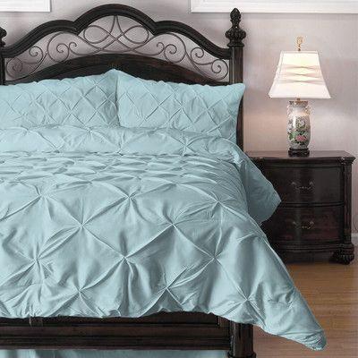 House of Hampton Vesqueville Pinch Pleat Comforter Set Size: California King, Color: Light Blue