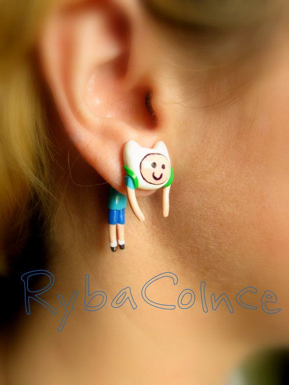 Fake Ear Gauge Adventure Time Faux Earrings Plug By Rybacolnce 20 00