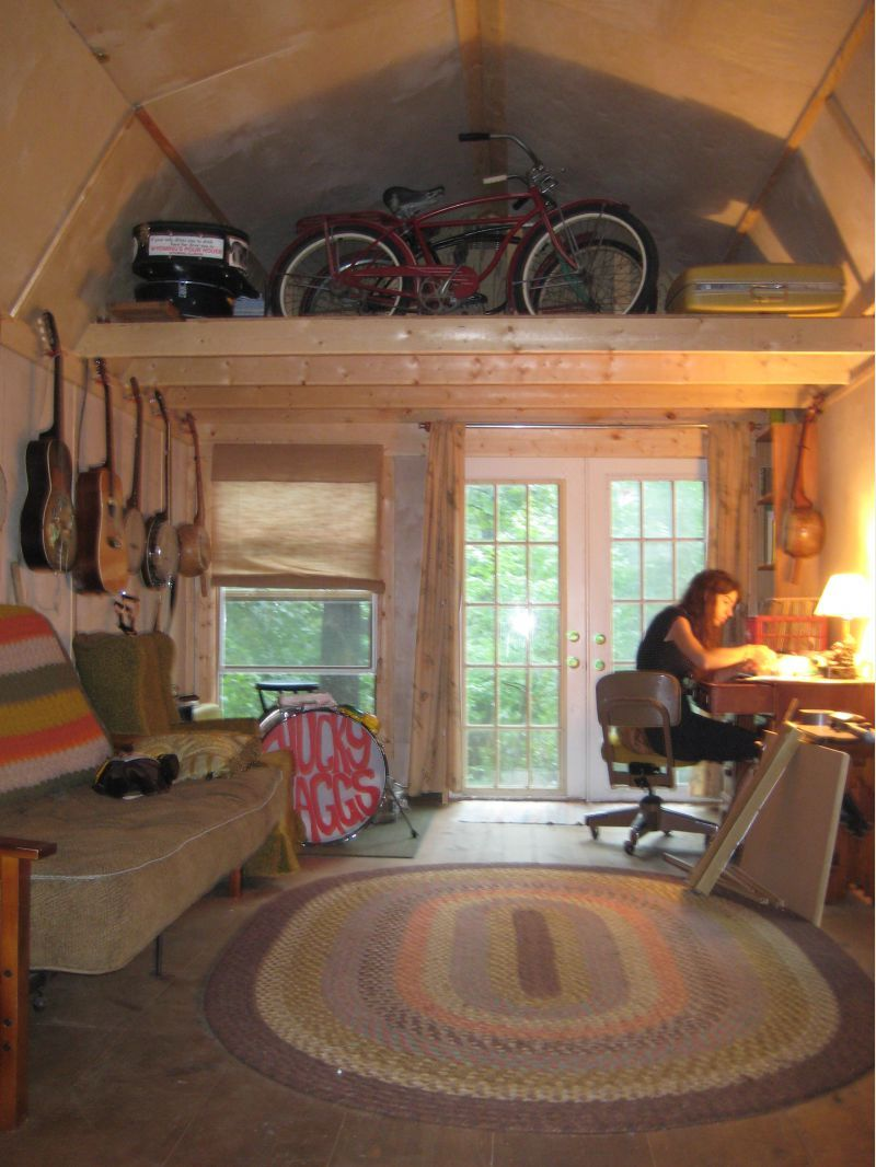 Derksen 12x24 Lofted Shed Homes Tiny House Interior Tiny House Cabin