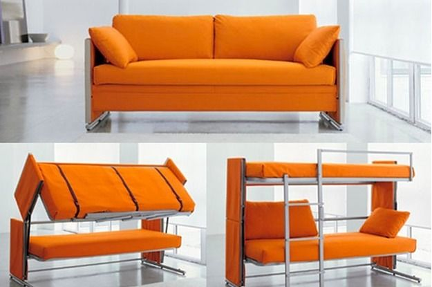 bunk bed sofa couch on 15 Incredibly Satisfying Space Saving Furniture Designs Cool Couches Couch Bunk Beds Futon Bunk Bed
