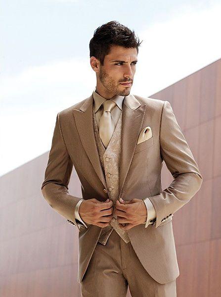 85b55315c3 Click to Buy << Latest Coat Pant Design Brown Pattern Men Suit Slim Fit 3  Piece Italian Classic Tuxedo Custom Suit Gentle Blazer Terno Masculino  #Affiliate