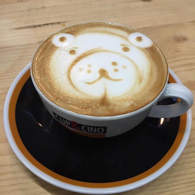 Bärenstark, einfach ein tierisch guter Cappuccino #latteart