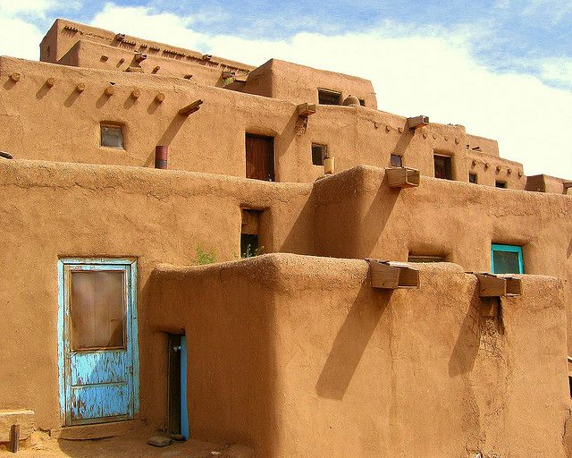 Pueblo Home Modern And Ancient Communities Of Native Americans In The Southwestern United States Of America The First Span Adobe House Taos Pueblo New Mexico