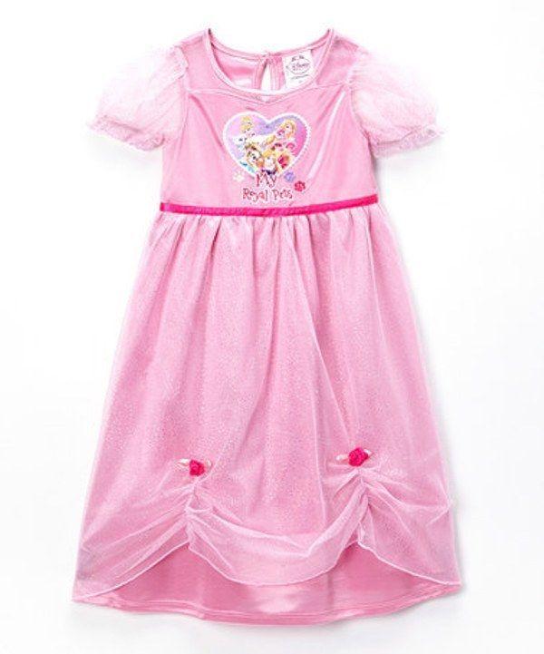 cfc0d382e NWT Toddler Girls Disney Princess Pink  My Royal Pets  Nightgown ...