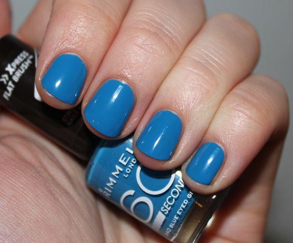 Rimmel 60 Seconds - Blue Eyed Girl | Nail polishes I own | Pinterest