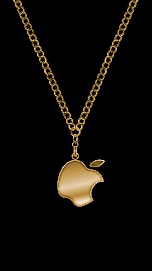 Apple Necklace Iphone Wallpaper With Images Apple Wallpaper