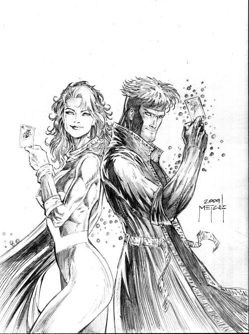 Gambit And Rogue Appreciation Page 28 Drawing Superheroes Marvel Rogue Rogues