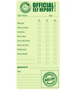 Printable Elf On The Shelf Report Card There Is A Nice  Naughty