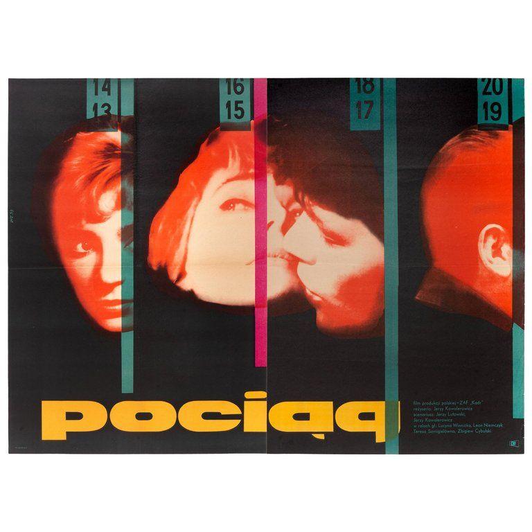 Wojciech Zamecznik Posters Vintage Pociag Poster Cwf 1959