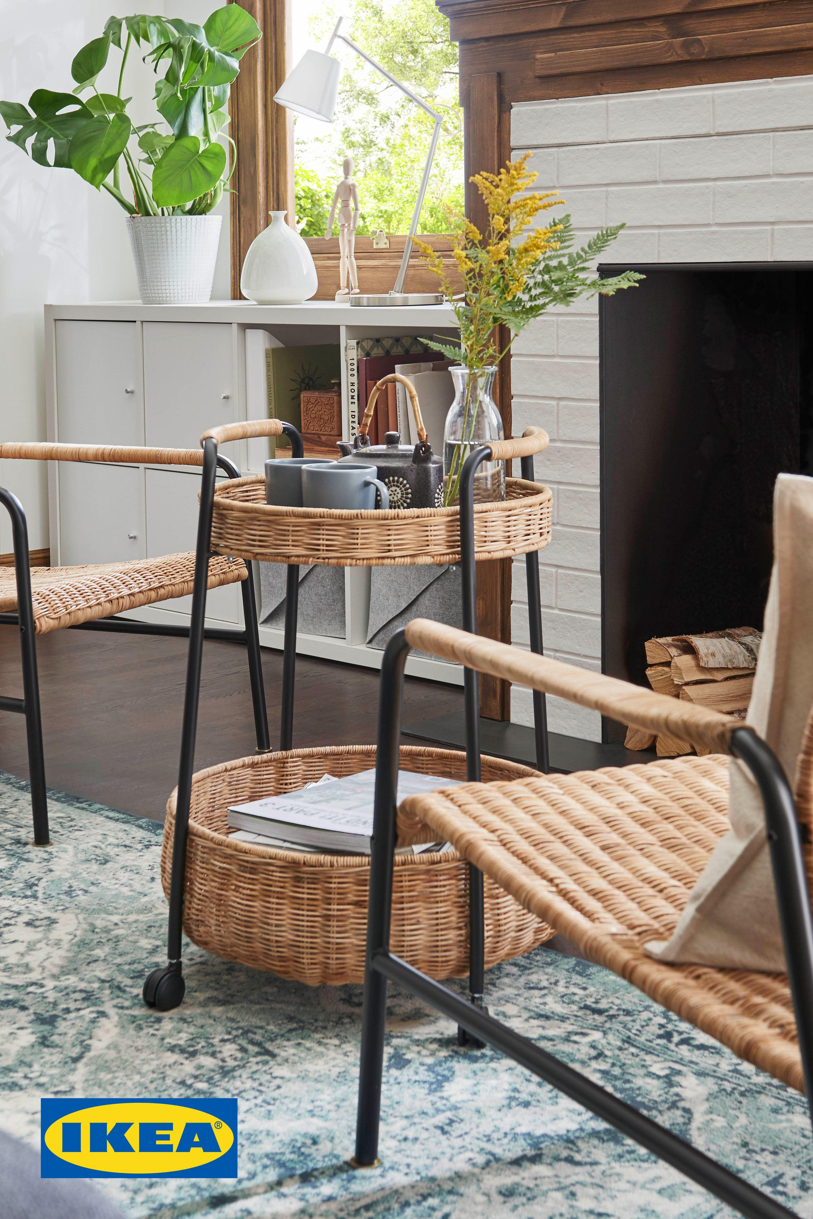 ulriksberg fauteuil rotinanthracite  ikea  apartment