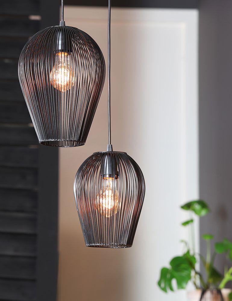 Wohnzimmerlampe Light Living Mit Schwarzer Drahtlampe
