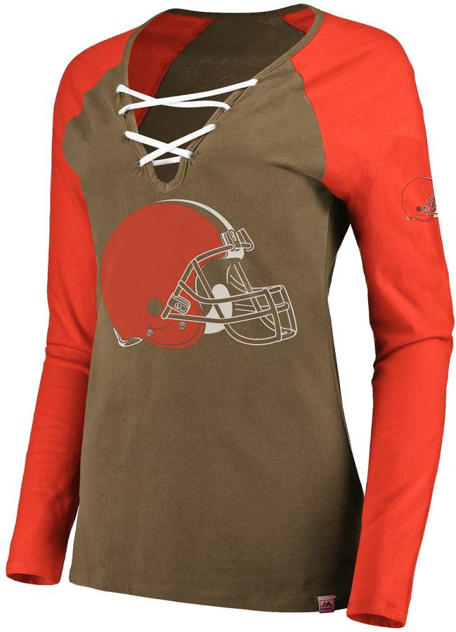 big sale dcd02 55acf Women's Cleveland Browns The Lace Up Tee | Products ...