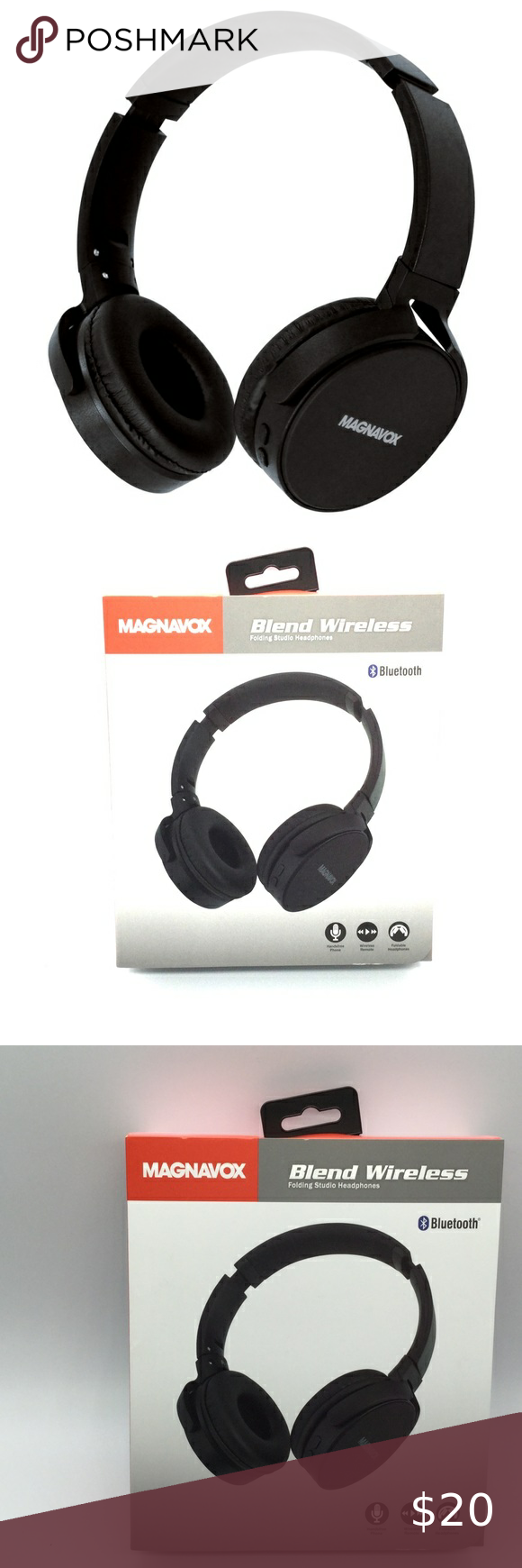 Magnavox Blend Wireless Bluetooth Headphones New Bluetooth Headphones Wireless Headphones Bluetooth Headphones