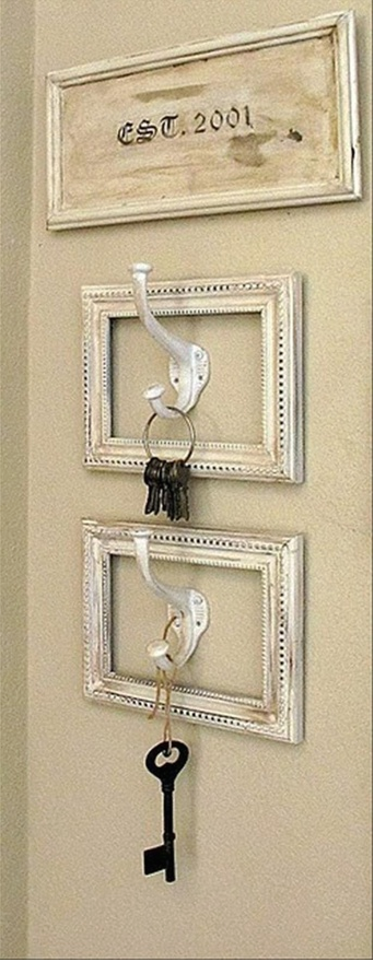 Hang the keys in an old frame and have a plack est for when you ...