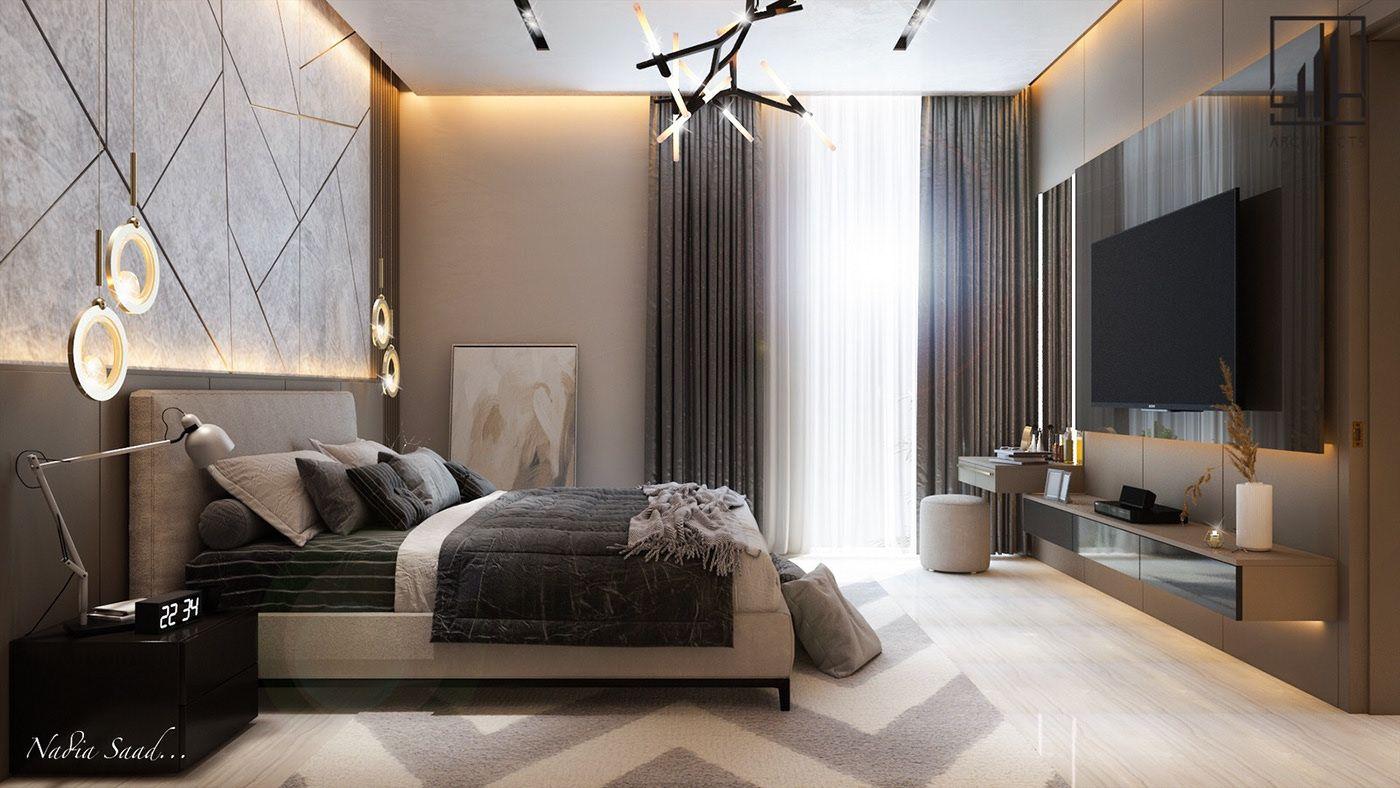 Bedroom Design with Dressing area in kSA on Behance in 10 ...